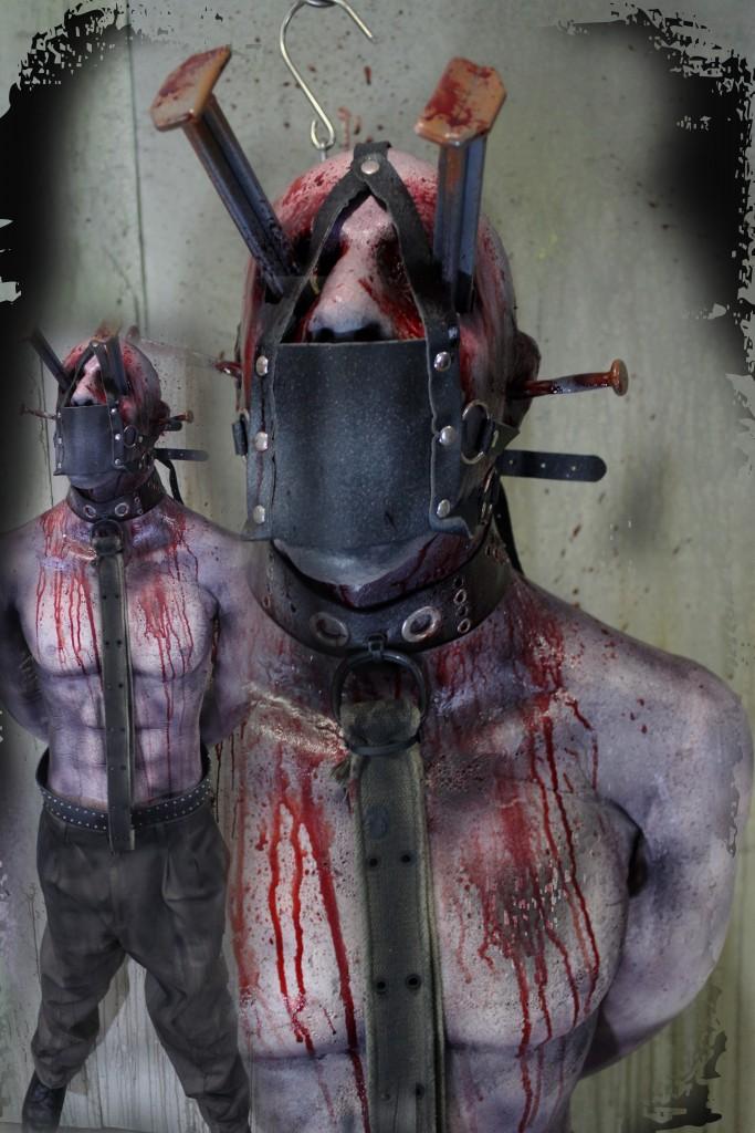 Hanging Male Victim hear no evil see no speak no
