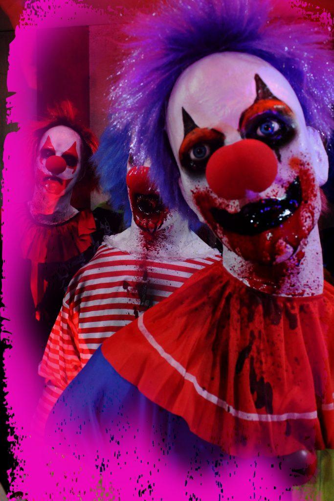 12 Eco Halloween prop crazy killer clowns