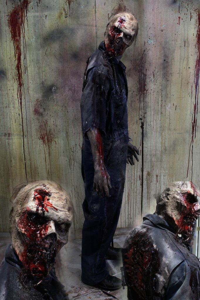 New 2017 Zombie Walker Halloween Prop Turned Head Zombie