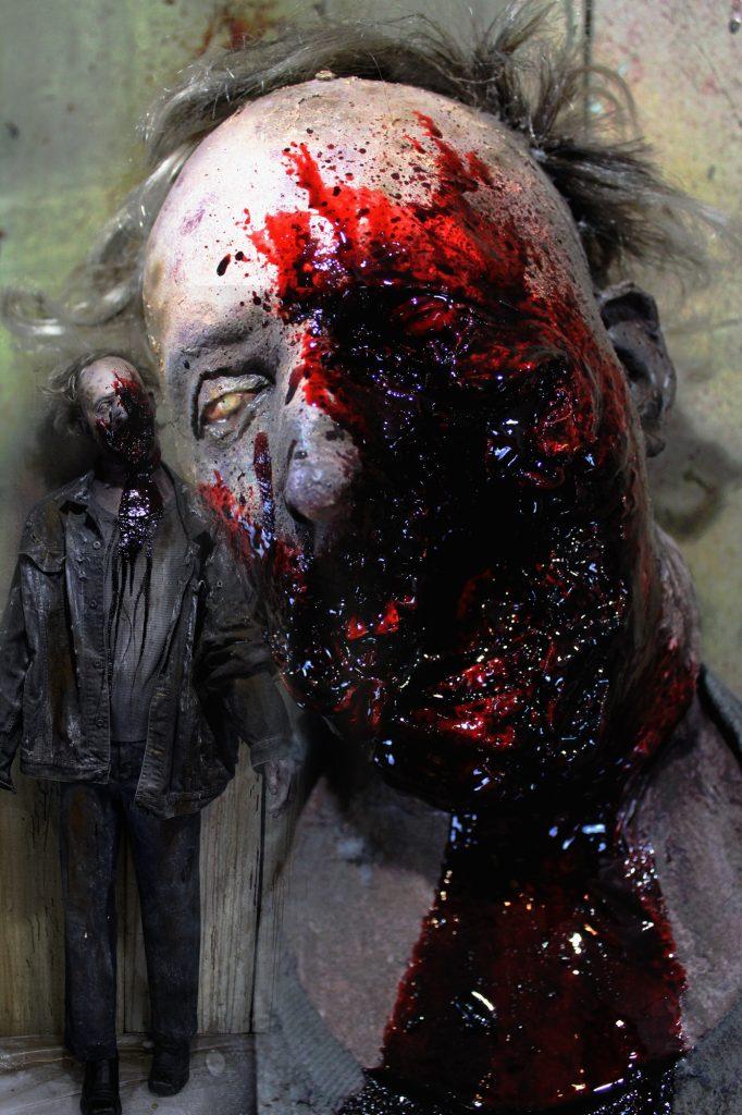 New 2017 Zombie Walker Halloween prop Shotgun Blasted male zombie
