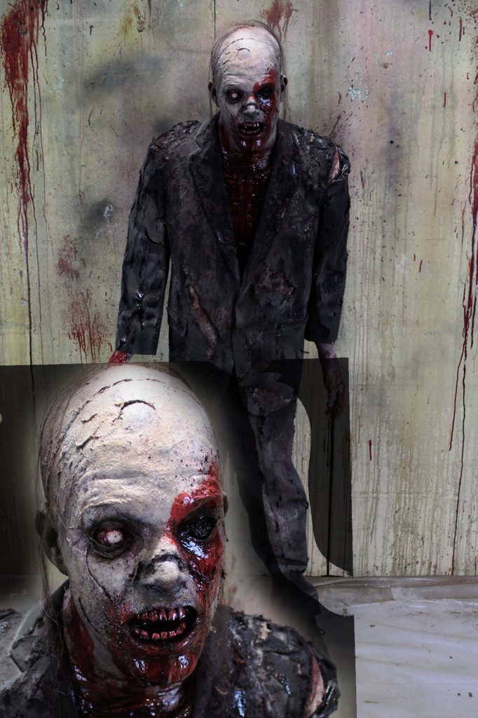 New 2017 Zombie Walker Halloween prop Damaged Dan