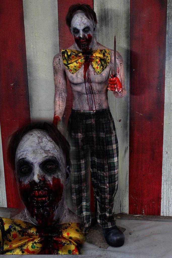 New 2017 Scary Clown Halloween Prop Crazy Man Clown