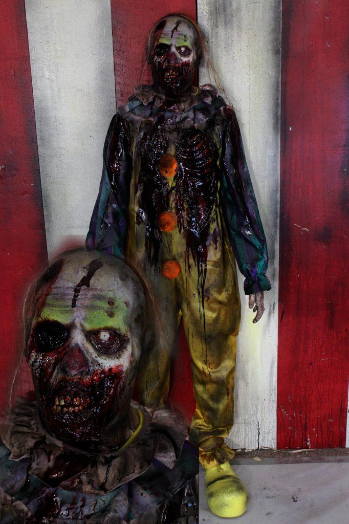 New 2017 Scary Zombie Halloween prop Rotten Walker clown