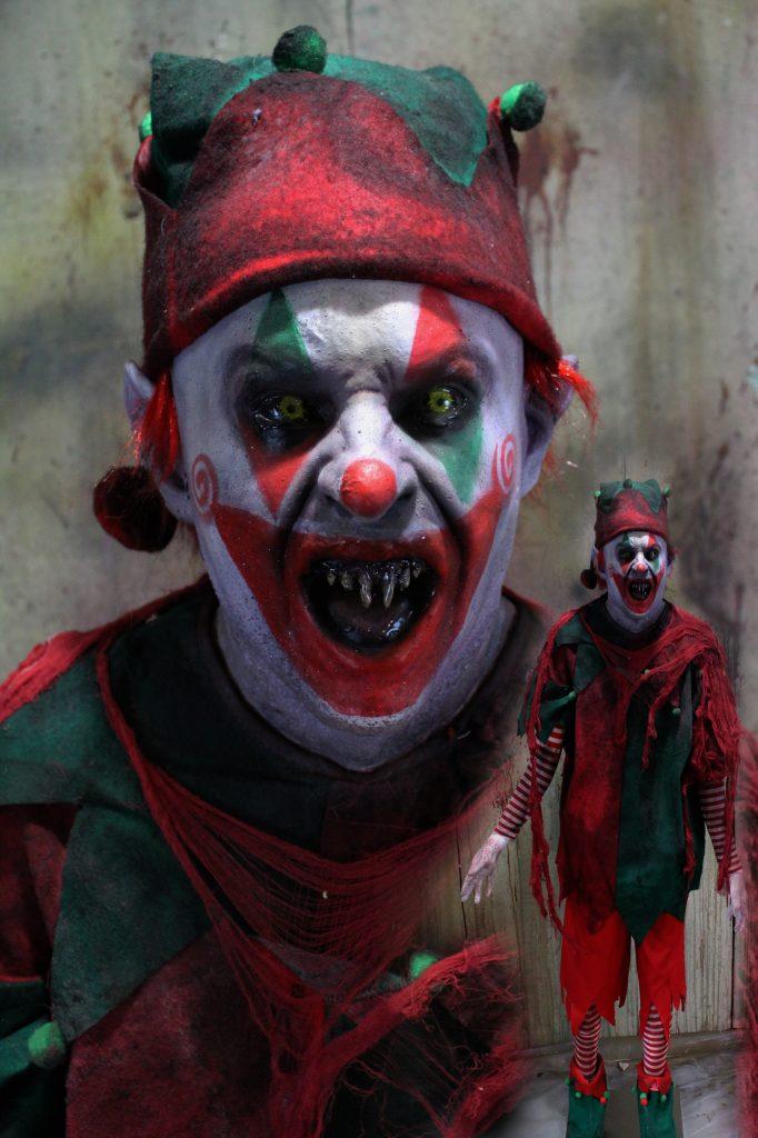 New 2017 Haunted Christmas Prop The Evil Clown elf