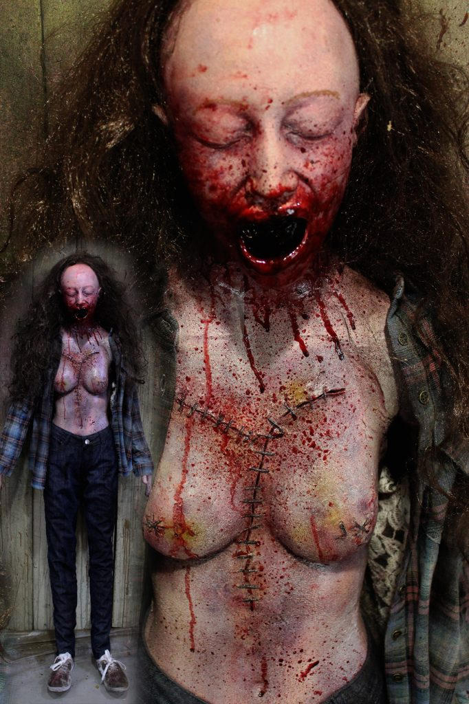 New 2017 Dead Body Halloween prop Stitched Victim Vicky