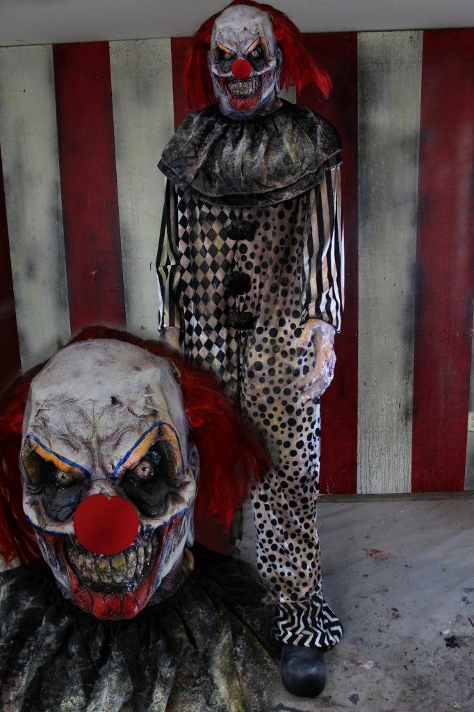New 2017 7ft Scary Clown Halloween Prop Evil Clown