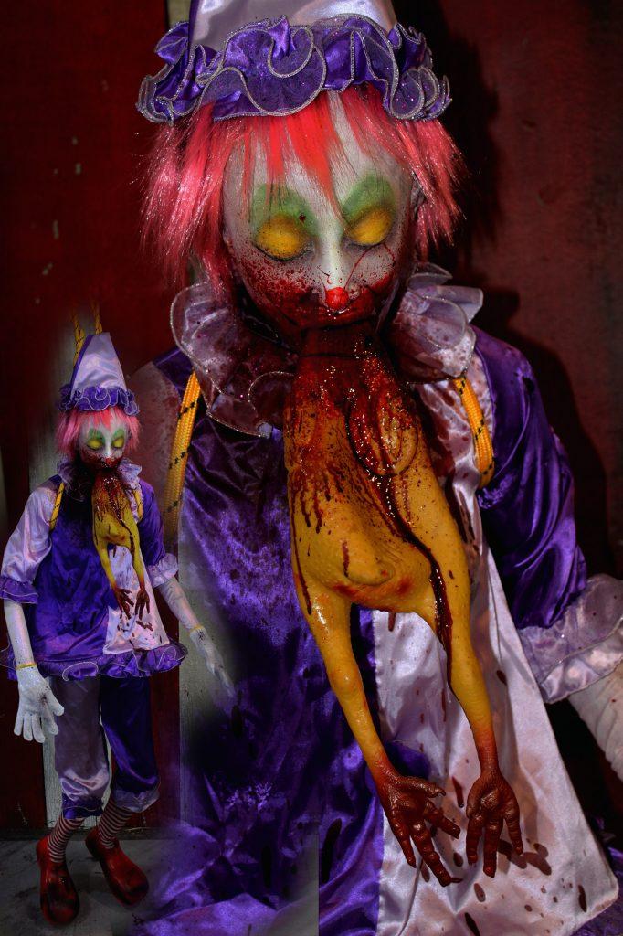 New 2017 Dead Body Clown Girl Choke On it