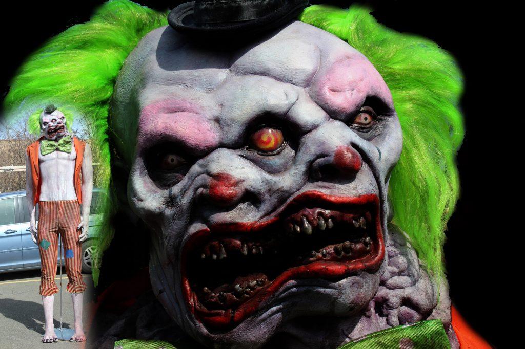 New 2017 Giant 9ft Halloween Prop Double headed clown