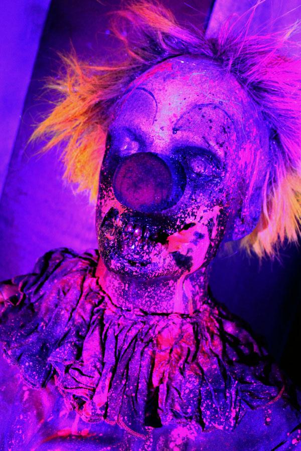 3D UV Glow Halloween prop Clown 3 Zombie clown
