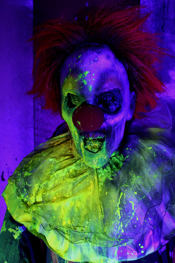 3D UV Glown Clown Halloween Prop Clown 5 zombie