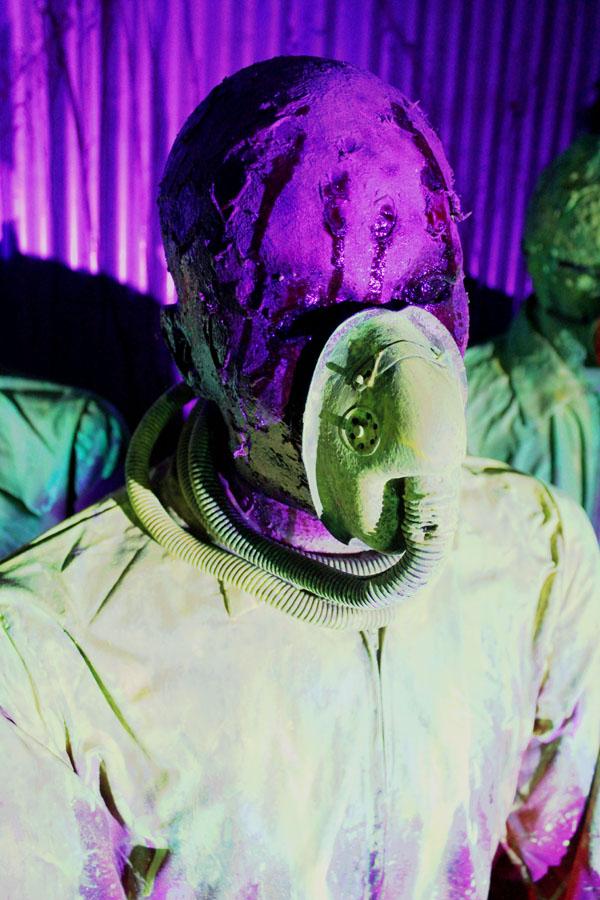 3D UV Toxic Mutant Halloween prop Acid Burn