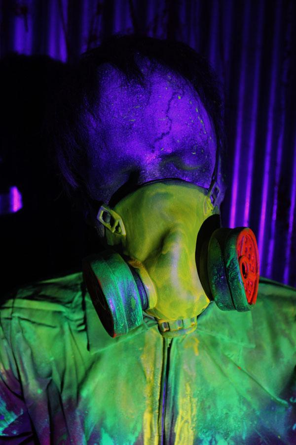 3D UV Toxic Mutant Halloween Prop Green Gassed