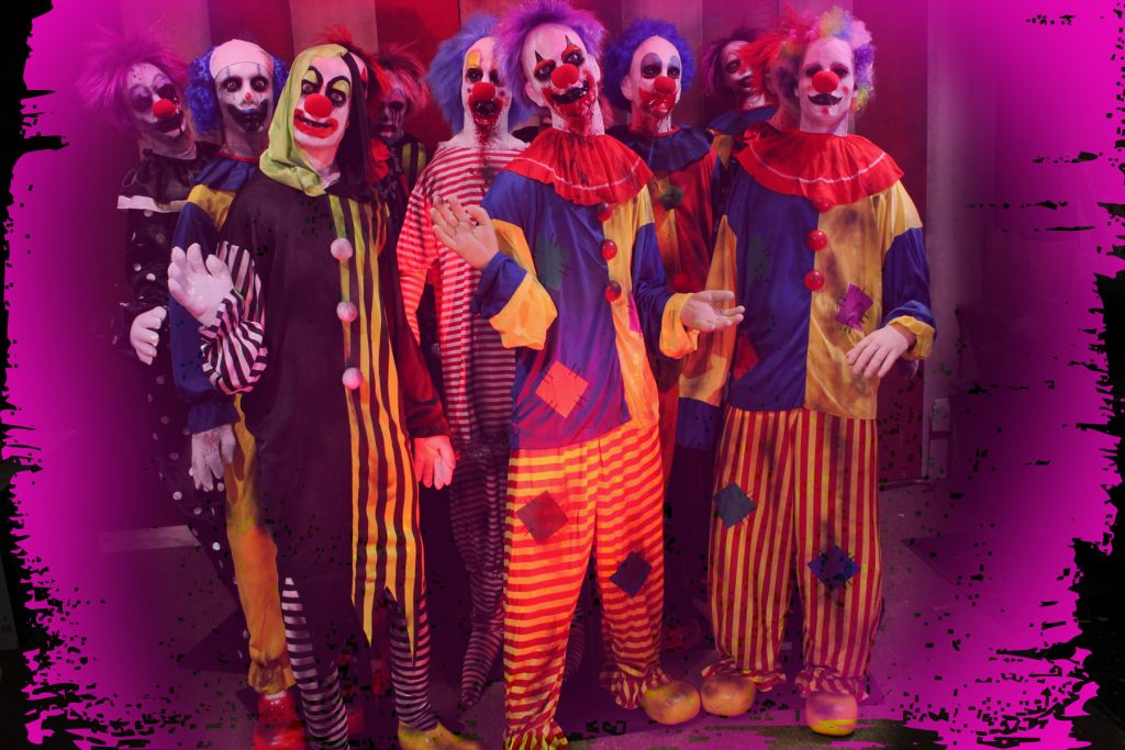 6 pack Eco Clowns Halloween Props