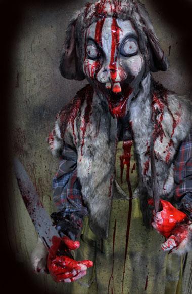 New 2018 Halloween Haunted House Prop Bunny Killer Barnyard Berserker prop