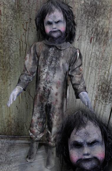 New 2018 36″ Halloween Haunted House prop creepy doll Angry Ana