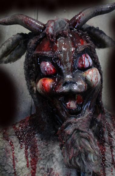 New 2018 Halloween Haunted House prop Goat Berserker killer