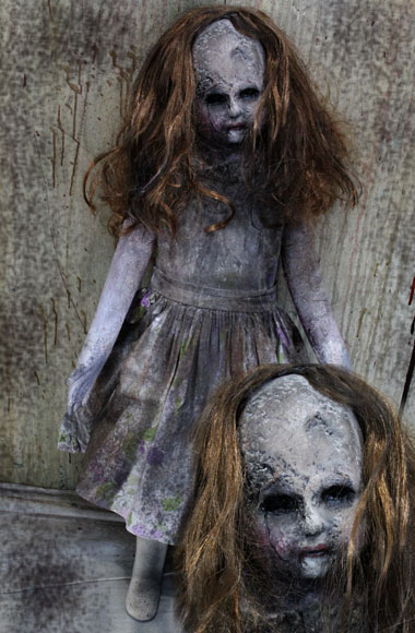 New 36″ Halloween haunted house prop creepy doll Sadness