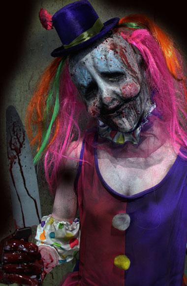 New 2018 Halloween Haunted House clown prop stabby Abby