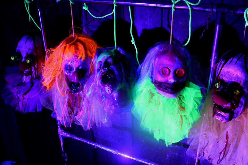 New UV Drips and Rope Clown heads on rope 10 pack
