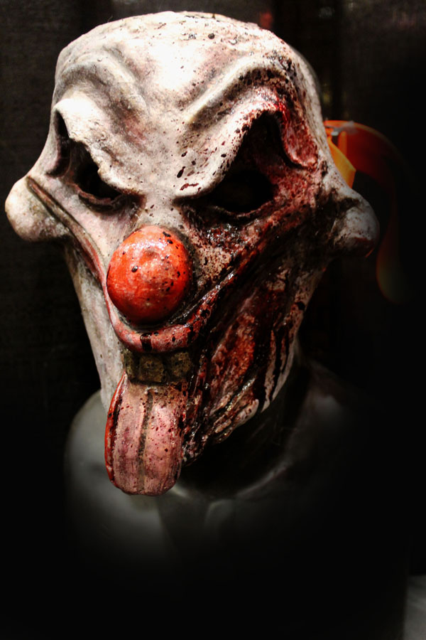 Tongues clown white mask Haunted House Actor Halloween Mask