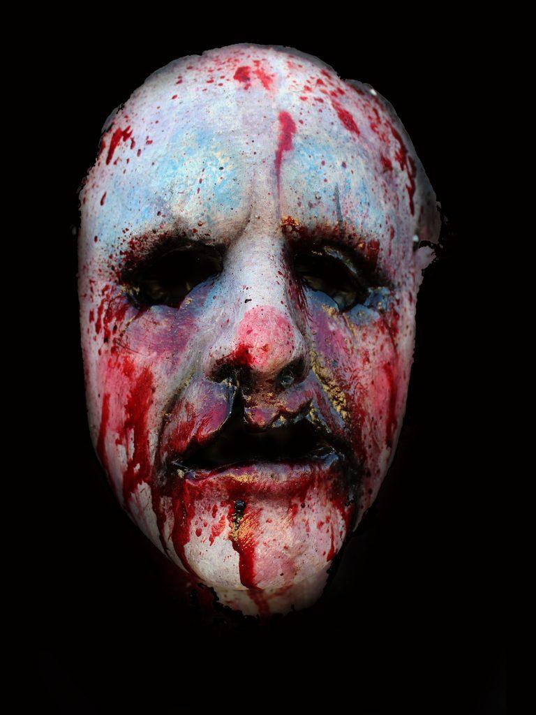 Cut off Clown Killer Halloween Mask