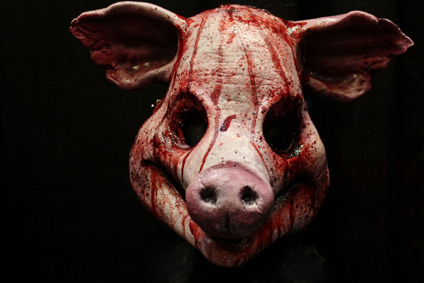 Slaughter Pig mask mask Haunted House Actor Halloween Mask
