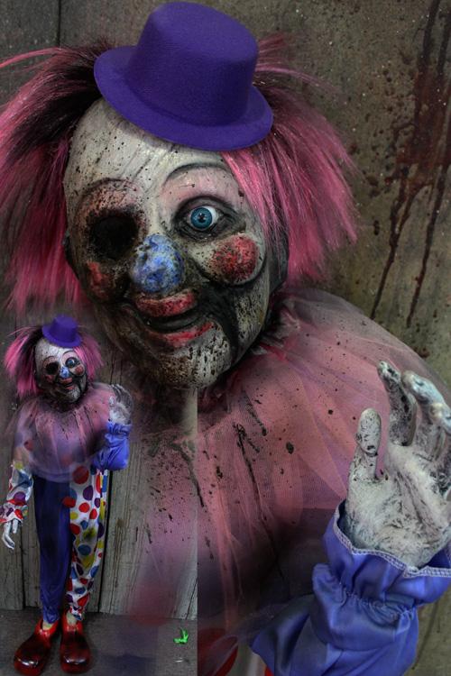 New 2019 Halloween Prop Cracked clown