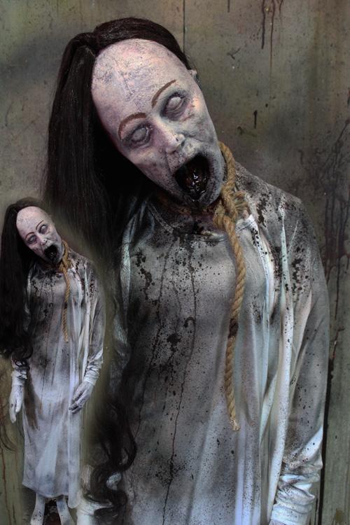 New 2019 Halloween Haunted House Prop Broke Neck Ghost
