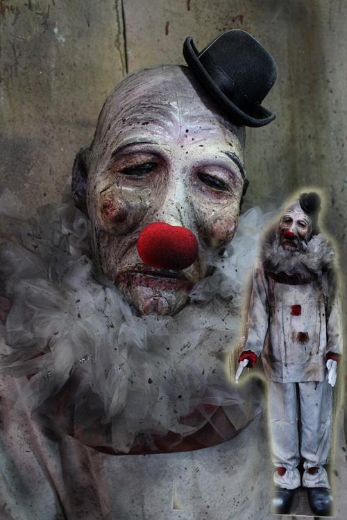 New 2019 Halloween Haunted House Prop Big Headed clown