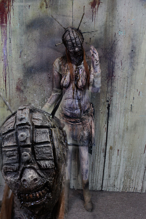 New 2019 Halloween Haunted House Prop Hell zombie Female