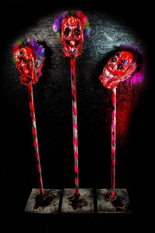 New 2020 Target Clown Heads Halloween Prop