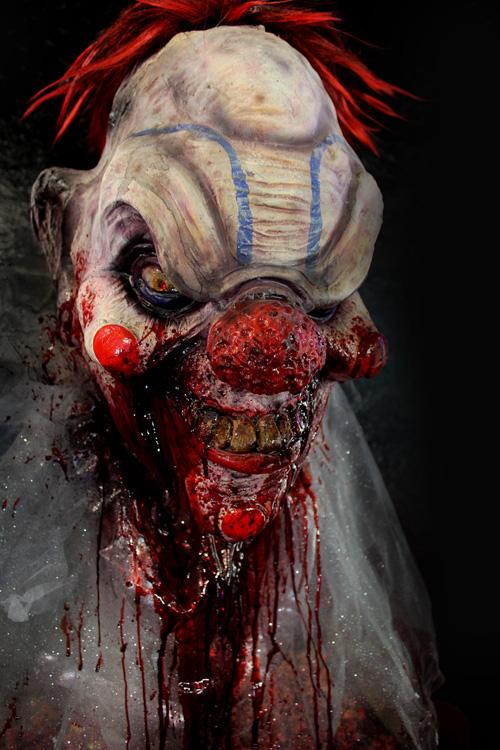 Large Pop corn Burster clown Halloween prop