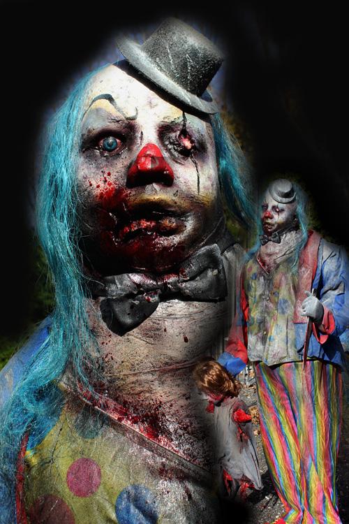 Burly Billy Clown prop with dead kid prop 2021