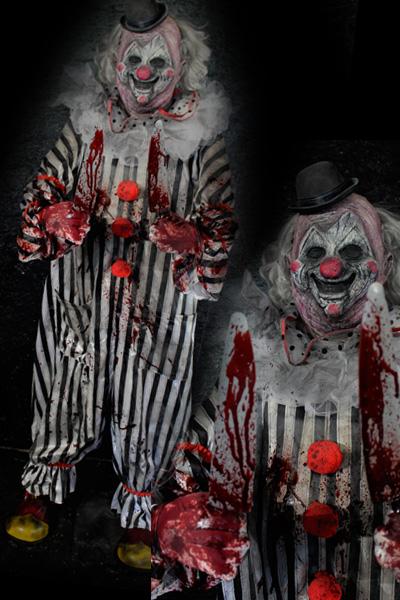 New 2021 White-E Stripes Clown Halloween prop